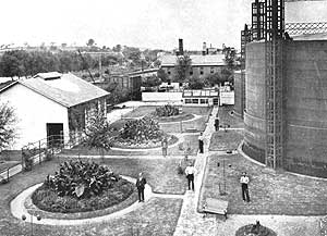Gas Works Yard in 1899
