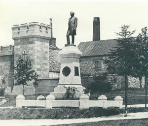 The Frederick Lauer Monument, unveiled in May 1885, was the first monument placed in the park. Lauer, who was the president of the United States Brewers' Association and long involved in its activities, did more than his share to put Reading on the map.