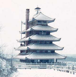 The Pagoda as it appeared in 1954.