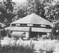 "To the rear of the bowling alley/pool hall, was the substantial pavilion that once housed Lawrence Gehringer's ""International Minature Village,"" later removed to Shartleville and renamed ""Roadside America."""